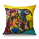 cheap Cushion Sets-pcs Cotton/Linen Pillow Case, Animal Print Graphic Prints Wildlife Novelty Casual Modern/Contemporary