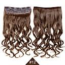 billige Hårstykker-Syntetisk hår Hårpåsætning Bølget Clips på Daglig Høj kvalitet