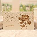 """povoljno Pozivnice za vjenčanje-Tri preklopa Vjenčanje Pozivnice 50 - Pozivnice Classic Style / Cvjetni Style Pearl papira 7 1/2 """"x 6 1/4"""" (19 * 13.5cm)"""