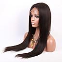 olcso Emberi hajból készült parókák-Emberi haj Csipke korona, szőtt Csipke Paróka Egyenes Paróka 130% Haj denzitás Természetes hajszálvonal Afro-amerikai paróka 100% kézi csomózású Női Hosszú Emberi hajból készült parókák