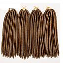 billige Hårfletninger-Fletning af hår Hæklet / Havana dreadlocks / Dreadlocks / Faux Locs 100% kanekalon hår / Kanelkalon 24 rødder / pakke Hårfletninger Dreadlock Extensions / Falske dreads / Falske hæklede dreads