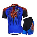 cheap Cycling Jersey & Shorts / Pants Sets-Men's Short Sleeves Cycling Jersey with Shorts - Blue Bike Shorts Jersey Clothing Suits, Breathable, Sweat-wicking