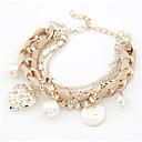 cheap Bracelets-Women's Pearl Charm Bracelet - Imitation Pearl Heart Fashion Bracelet Beige / Pink / Light Blue For Daily