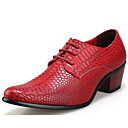 cheap Men's Oxfords-Men's Synthetics Fall / Winter Comfort Oxfords Black / Brown / Red / Party & Evening