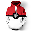 cheap Men's Bracelets-Inspired by Pocket Little Monster Little Monster Anime Cosplay Costumes Cosplay Hoodies Print Long Sleeves Top For Men's Women's