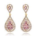 baratos Brincos-Mulheres Cristal Brinco - Fashion Rosa claro Para Casamento / Festa / Diário / Diamante / Multi-Pedras / Zircão