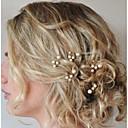 preiswerte Parykopfbedeckungen-Perle / Krystall Kopfbedeckung / Haar-Stock / Haarnadel mit Blumig 1pc Hochzeit / Besondere Anlässe Kopfschmuck