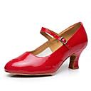 cheap Kids' Dancewear-Women's Modern Shoes Sparkling Glitter / Synthetic / Patent Leather Sandal / Heel / Sneaker Sparkling Glitter / Buckle / Ruffles Cuban