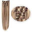 preiswerte Synthetische Haarverlängerungen-Synthetische Haare Haar-Verlängerung Glatt Klassisch Mit Clip Alltag Gute Qualität