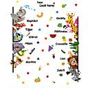 baratos Decoração de parede-Animais Adesivos de Parede Etiquetas de parede de animal Autocolantes de Parede Decorativos, Vinil Decoração para casa Decalque Parede