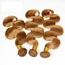 halpa Luonnollisen väriset hiuspidennykset-3 pakettia Brasilialainen Runsaat laineet Virgin-hius Hiukset kutoo Hiukset kutoo Hiukset Extensions Naisten