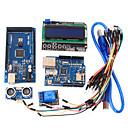 hesapli Anahtarlar-arduino için öğrenme araçları mega 2560 r3 kurulu + ethernet W5100 + röle + breadboard kablosu + hc-SR04 sensör kiti