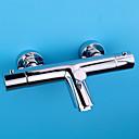 abordables Grifos de Lavabo-Grifo de ducha Grifo de bañera - Moderno Modern Cromo Bañera y ducha Válvula Cerámica