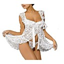 cheap Wedding Shoes-Women's Sexy Suits Nightwear - Lace Solid Colored / Deep U