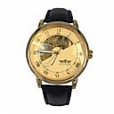 preiswerte Mechanische Uhren-WINNER Herrn Armbanduhr Mechanische Uhr Automatikaufzug Schwarz Transparentes Ziffernblatt Analog Luxus - Gold