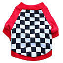 cheap Dog Clothes-Cat Dog Shirt / T-Shirt Dog Clothes Geometic Black Red Cotton Costume For Pets Men's Women's Fashion