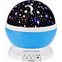 preiswerte Nachtleuchten-1set MOON Stern Sky Projektor Nachtlicht Mehrfarbig AAA-Batterien angetrieben USB Für die Kinder Abblendbar inklusive USB-Kabel