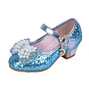 cheap Girls' Shoes-Girls' Shoes Glitter Spring & Summer Comfort Heels Crystal / Bowknot / Sequin for Pink / Blue / Wedding