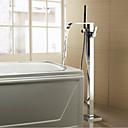 رخيصةأون حنفيات بيديه الحمام-حنفية حوض الاستحمام - معاصر الحديث الكروم حوض استحمام ودش صمام سيراميكي