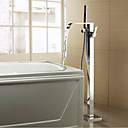 abordables Grifos de Bañera-Grifo de bañera - Moderno Modern Cromo Bañera y ducha Válvula Cerámica