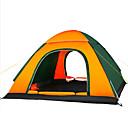 billige Telt og ly-4 personer Turtelt Enkelt Pop-up Kuppel camping Tent Utendørs Vanntett, Fukt-sikker, Velventilert til Jakt / Fisking / Vandring 1500-2000 mm Oxford 200*200*130 cm