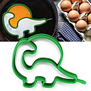 preiswerte Eierutensilien-Silikon Dinosaurier Shaper Pancake Ring Ei gebratene Form Ei Formen Küchenwerkzeuge