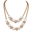 cheap Necklaces-Women's Pearl Layered Choker Necklace / Strands Necklace / Layered Necklace - Pearl Ladies, Double-layer, Fashion, Bridal Adorable White Necklace Jewelry For Wedding, Party, Daily, Work
