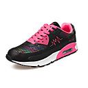 abordables Zapatillas de Mujer-Mujer Zapatos Tul Primavera / Otoño Confort Zapatillas de deporte Running / Paseo Tacón Plano Con Cordón Blanco / Negro / Azul