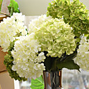 hesapli Suni Çiçek-Yapay Çiçekler 1 şube minimalist tarzı Ortancalar Masaüstü Çiçeği