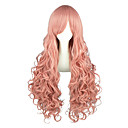 cheap Videogame Cosplay Wigs-One Piece Perona Cosplay Wigs Men's Women's 36 inch Heat Resistant Fiber Pink Anime