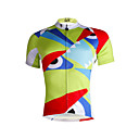cheap Cycling Jerseys-ILPALADINO Men's Short Sleeve Cycling Jersey - Light Green Fashion Bike Jersey, Quick Dry, Spring, 100% Polyester / Breathable / Stretchy / Ultraviolet Resistant / Breathable / Reflective Strips