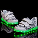 halpa Uistimet ja perhot-Poikien Kengät PU Kevät Comfort / Välkkyvät kengät Lenkkitossut Kävely LED varten Musta / Fuksia / Vaalean vihreä