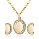 baratos Brincos-Mulheres Conjunto de jóias - Incluir Sets nupcial Jóias Dourado Para Casamento / Festa