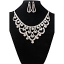 cheap Zentai Suits-Women's Jewelry Set - Rhinestone Vintage, Fashion Include Necklace / Earrings White For Wedding Party