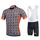 cheap Cycling Jersey & Shorts / Pants Sets-Fastcute Men's Women's Short Sleeves Cycling Jersey with Bib Shorts - Black Bike Bib Shorts Bib Tights Jersey Clothing Suits, Quick Dry,