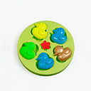 abordables Cuchillería-Herramientas para hornear Silicona Cumpleaños / Manualidades Pastel / Tarta / Chocolate Animal Molde para hornear