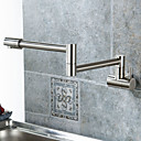 cheap Shower Faucets-Kitchen faucet - Single Handle One Hole Nickel Brushed Pot Filler Centerset Contemporary / Modern