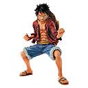 levne Anime akční figurky-Anime Čísla akce Inspirovaný One Piece Monkey D. Luffy PVC 18cm CM Stavebnice Doll Toy