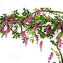 preiswerte Kunstblume-Künstliche Blumen 1 Ast Pastoralen Stil Lila Wand-Blumen