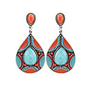 cheap Earrings-Women's - Resin, Silver Plated Vintage, Bohemian Green / Blue For Party Daily Casual