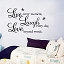 preiswerte Wand-Sticker-Dekorative Wand Sticker - Worte & Zitate Wandaufkleber Stillleben Wohnzimmer / Schlafzimmer / Esszimmer / Abziehbar