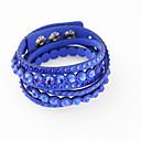 baratos Pulseiras-Mulheres Enrole Pulseiras - Fashion Pulseiras Azul / Azul Claro / Champanhe Para Casamento