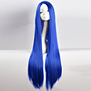 cheap Synthetic Capless Wigs-Synthetic Wig / Cosplay & Costume Wigs Straight / kinky Straight Asymmetrical Haircut Synthetic Hair Natural Hairline Blue Wig Women's Long Capless