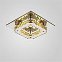baratos Luminárias de Teto-CXYlight Montagem do Fluxo Luz Ambiente - Cristal, Estilo Mini, LED, 90-240V, Branco Quente / Branco, Fonte de luz LED incluída / 10-15㎡