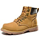 cheap Mice-Men's Combat Boots Nappa Leather Spring / Fall / Winter Boots Yellow / Taupe