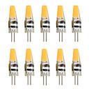billige Bi-pin lamper med LED-10pcs 2W 200-250lm G4 LED-lamper med G-sokkel T 1 LED perler COB Dekorativ Varm hvit Kjølig hvit 12V