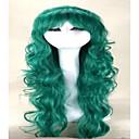 povoljno Anime perike-Sintetičke perike Žene Wavy Sintentička kosa Perika Capless Zelen hairjoy