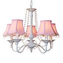 tanie Lampy stołowe-5 świateł Żyrandol Downlight Inne Metal Tkanina Kryształ, Styl MIni, projektanci 110-120V / 220-240V Nie zawiera żarówek / E12 / E14