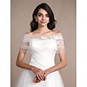 זול עליוניות לחתונה-ללא שרוולים טול חתונה / מסיבה / ערב כיסויי גוף לנשים עם אפליקציות בולרו