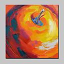 abordables Pulseras-Pintura al óleo pintada a colgar Pintada a mano - Abstracto Modern Con Marco / Lona ajustada